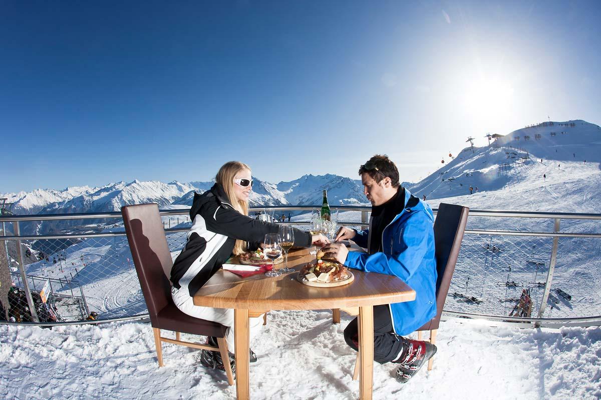 Mittagessen am Berg